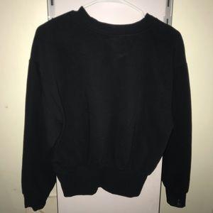 Zara basic black long sleeve sweater
